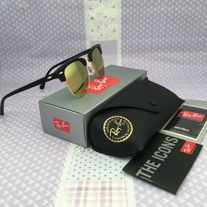 Ray-Ban Clubmaster Sunglasses, Acetate Copper Lens